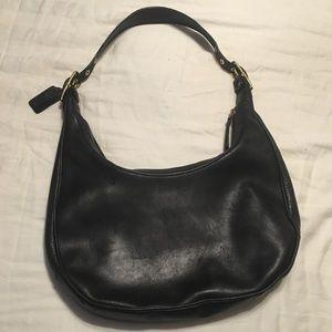Coach hobo black leather vintage bag